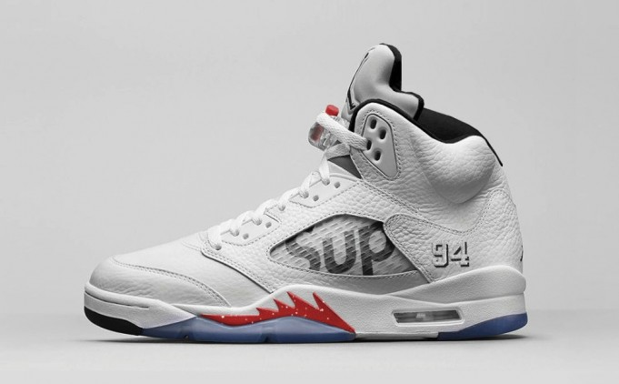 Supreme x Nike Air Jordan 5 White もリリースか!