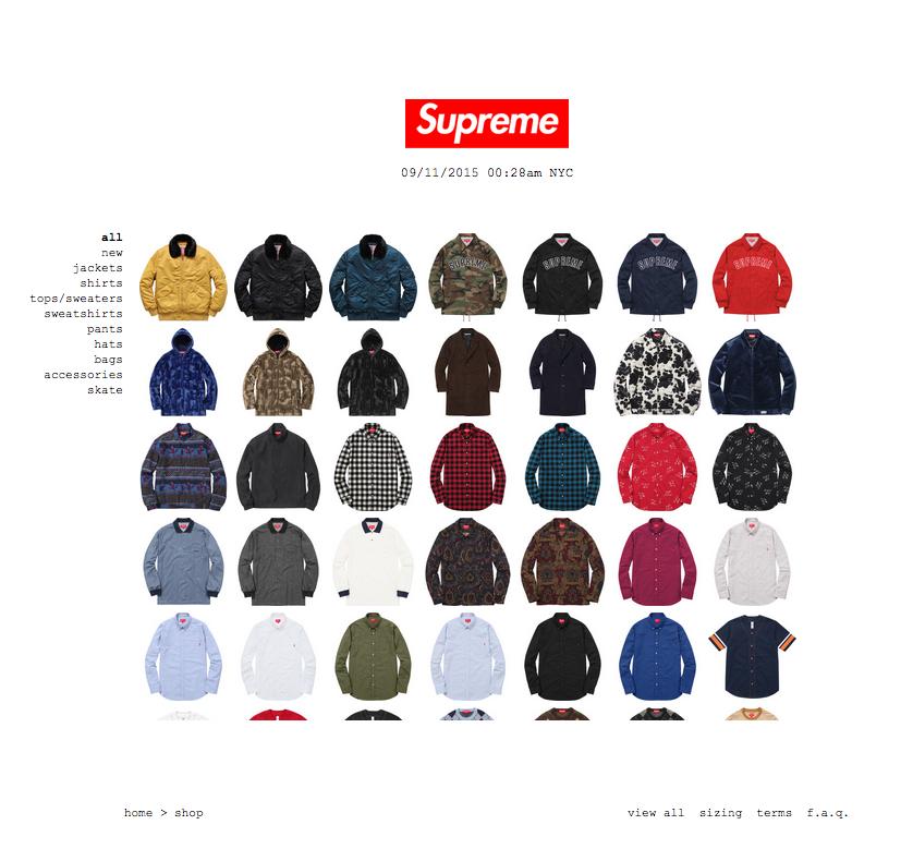9月12日Supreme Online Shop日本国内発売予定アイテム直リンク!  219407924b